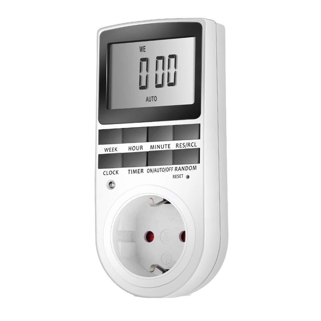 KWE-TM02 Elektronische digitale Zeitschaltuhr Stecker Kü chentimer Steckdose 230 V 50 HZ 7 Tag 12/24 Stunden Hermosairis