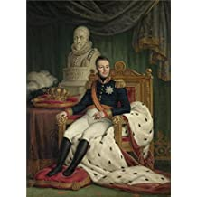 'Mattheus Ignatius van Bree - King Willem I, 19th century' oil painting, 24x33 inch / 61x83 cm ,printed on Perfect effect Canvas ,this High quality Art Decorative Canvas Prints is perfectly suitalbe for Living Room decoration and Home decoration and Gifts
