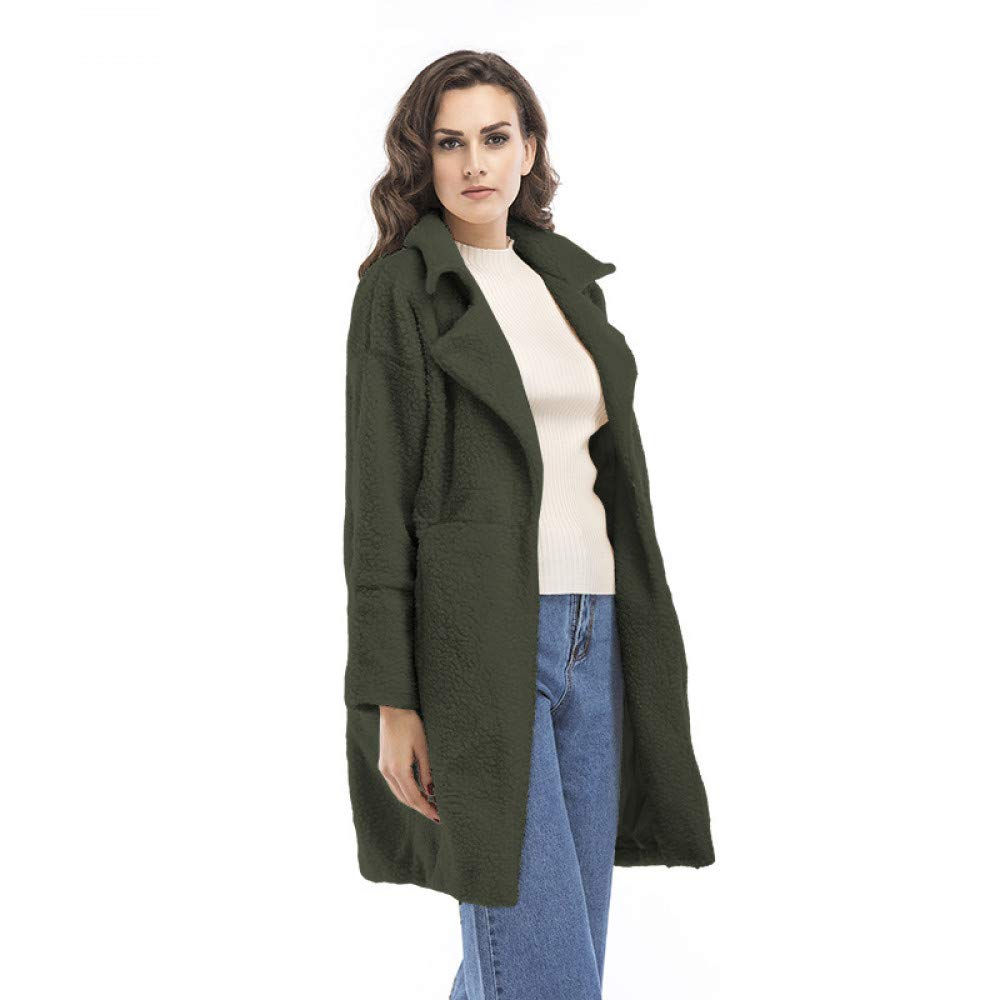 SUIFENG@ Frauen Trenchcoat Europa und Die Vereinigten Staaten Herbst und Winter Frauen Langen Mantel Wollmantel