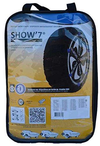 Chaussette neige textile pneu 235//55R17 excellente protection de la jante Valise comprenant 2 chaines textile et 1 paire de gants