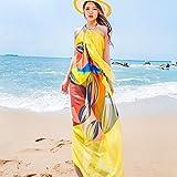 Sexy Women Chiffon Beach Swimwear Sarong Wrap Dress Bikini Cover Up Scarf...