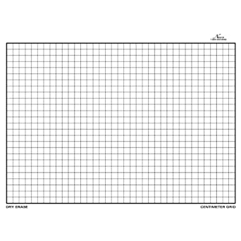 nasco tb22064t dry erase board centimeter grid double sided 11 1