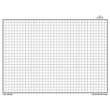 Nasco TB22064T Dry-Erase Board, Centimeter Grid, Double-Sided, 11 ...