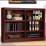 Midas Six Shelf Double Bookcase 36″H Dry Oak Finish Review