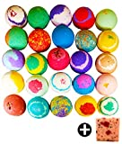 10 Large Bath Bombs W/Free Soap Bar, USA Made Gift Set - Bath Fizzies -Over 200 Different Varieties, Assorted Gift Box Vegan Kids Love Them Perfect Gift For Her Organic Shea Butter