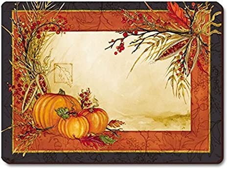Autumn Decor Country Decor Pumpkins Kitchen Decor Quilted Placemats Fall Placemats Set of 4 Table Mats Fall Table Setting