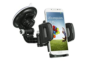 Mstechcorp - For HTC One M9 / HTC Hima Does Not Fit HTC One M8 Or M7 - Heavy Duty Universal Car Mount Mobile Phone Holder Touch Windshield Dashboard Car Mount Holder (CAR MOUNT)