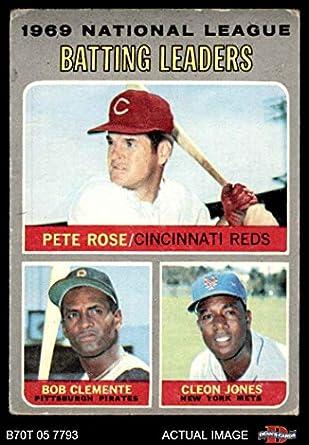 Amazoncom 1970 Topps 61 Nl Batting Leaders Roberto
