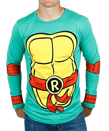 Teenage Mutant Ninja Turtles Raphael Costume Longsleeve Adult T-Shirt (XX-Large) (Shredder Costume For Adults)