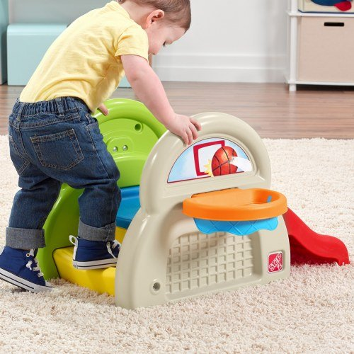 Step 2 Sports-Tastic Activity Center for Toddlers, Durable Outdoor Slide and Climber with Ball Game Accessories, Multicolor by Step2 (Image #2)