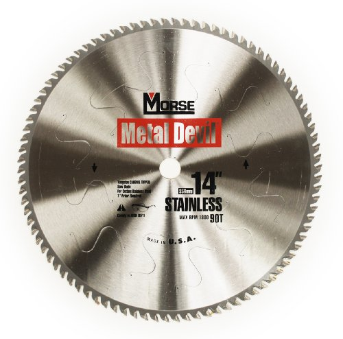 MK Morse CSM1490SSC Metal Devil Circular Saw Blade, Stainless Steel Cutting, 90 Tooth, (Metal Devil Saw Blade)