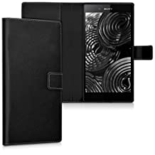 kwmobile Elegant synthetic leather case for the Sony Xperia Z Ultra with magnetic fastener and stand function in black