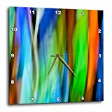 3dRose Danita Delimont - Abstracts - A motion blur of a stain glass window. - 15x15 Wall Clock (dpp_276400_3)
