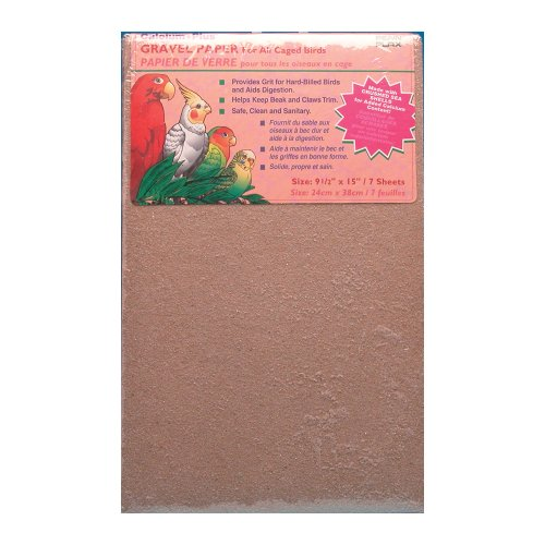 - Penn Plax (BA638) Gravel Paper for Bird Cage, 9-1/2 by 12-Inch