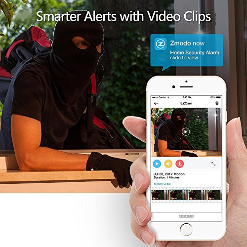 Zmodo EZCam Wireless Two-Way Audio Smart HD IP Camera with Night Vision