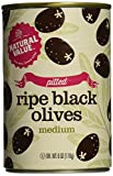 Natural Value Pitted Medium Black Ripe Olives, 6 Ounce Cans (Pack of 24)