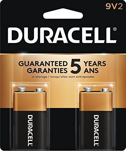 Duracell Coppertop 9v Batteries - Duracell Coppertop 9V Alkaline Batteries, 2 Count
