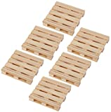 Juvale Coasters Mini Wooden Pallet Drink Coasters For Wine Glasses, Beer, Whiskey, Cocktail, Hot and Cold Drinks and Other Beverages, Set of 6