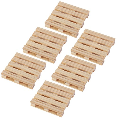 Juvale Coasters Mini Wooden Pallet Drink Coasters for Wine...