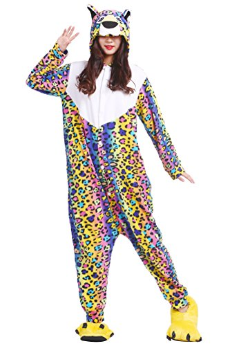Adulto Pijamas Flor Leopardo Onesies Kigurumi Unisex Animal 4OvgUZqqa