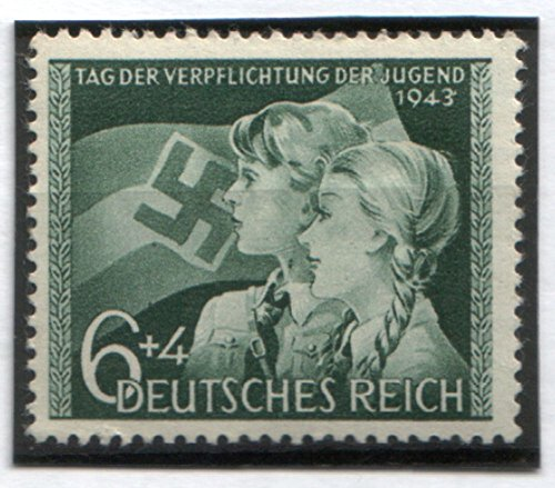 RARE ORIGINAL WW2 NAZI HITLER YOUTH STAMP (MINT NEVER HINGED/FULLY GUMMED!))