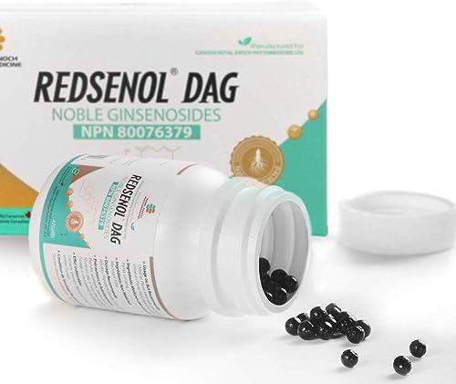 Redsenol DAG Sublingual Pills 8 Rare Ginsenosides Rk2 Rh3 aPPD Rg5-14 Rare Ginsenosides-2 Bottles x 420 Pills