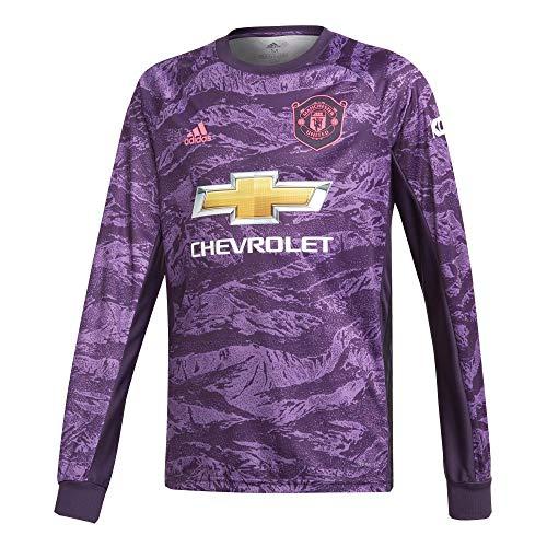 adidas 2019-2020 Man Utd Home Goalkeeper Football Soccer T-Shirt Jersey (Kids) ()