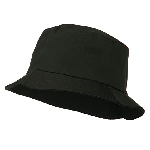 OTTO Plain Cotton Twill Bucket Hat - Black at Amazon Men s Clothing ... 6e5684f55d5