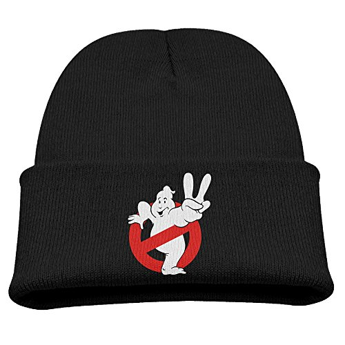 SHEAKA Ghostbusters Yes Gesture Baby's Knitted Street DanceCaps Hats Black For Autumn And Winter (Halloween 1 Film Trailer)