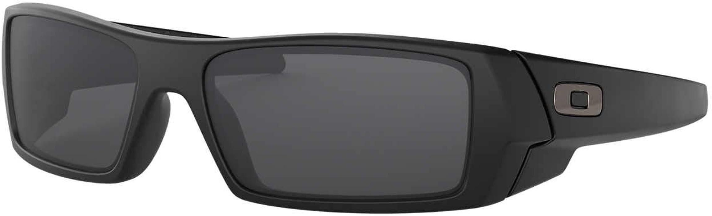 46afc36f1e7b Oakley Mens Gascan Sunglasses (OO9014) Black Matte Grey Plastic -  Non-Polarized