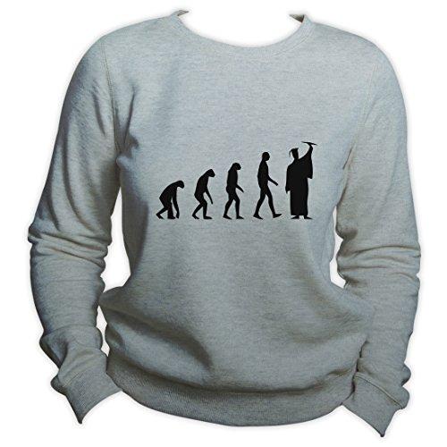 Graduation Gift Graduation Evolution Sweatshirt Education Is Important University Pullover Gris