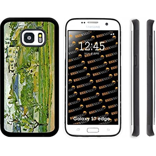 Rikki Knight Paul Cezzane Art Fruit Garden in Pontoise Design Samsung Galaxy S7 Edge Case Cover (Black Rubber with front Bumper Protection) for Samsung Sales