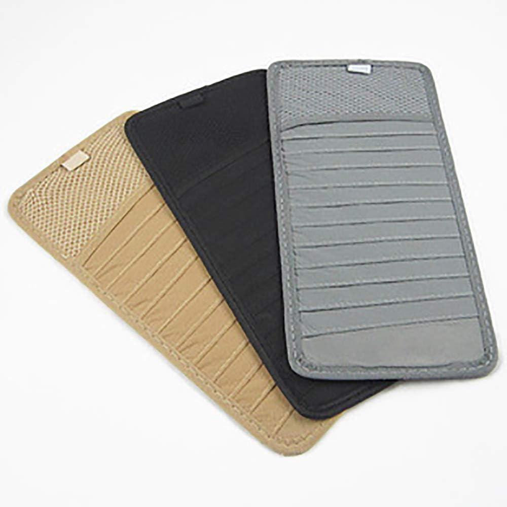 2Pcs Black Car Sun Visor Organizer CD Holder Case Pocket Storage Pouch 12 Disc Auto CD Storage Case Sleeve Wallet Clips Stowing Tidying