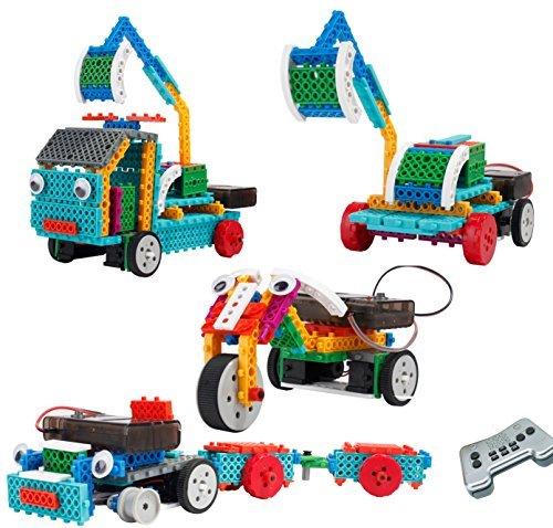 Top Race® ferngesteuerte RC Blocks, Fahrzeugbauset. Baue Dein Lieblingsfahrzeug und steuere es mit der kabellosen Fernbedienung