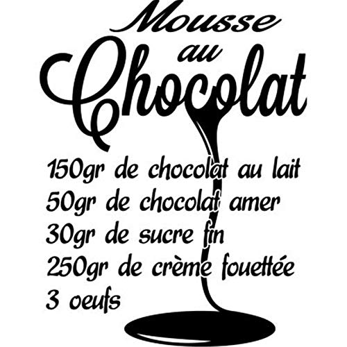 Wall Decal Sticker Art Mural Home Dcor Quote Chocolate Mousse Recipe Stickers Cheap -