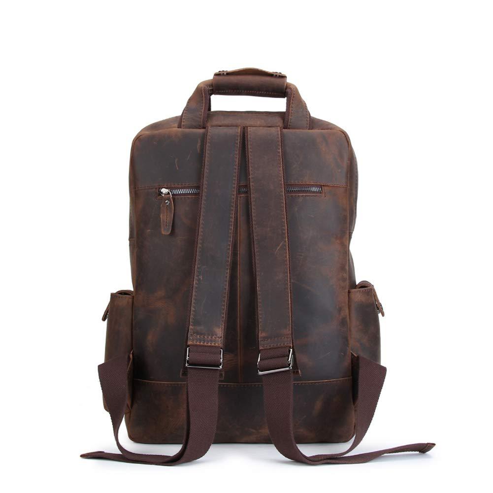 225bac17265e Amazon.com: HWX Unisex Travel Backpack,Men's Retro Leather Rucksack ...