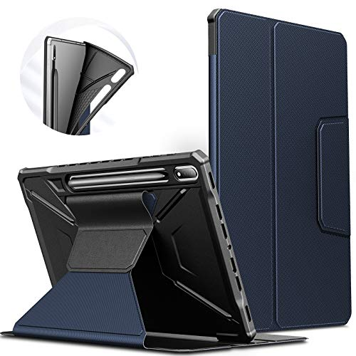 INFILAND Galaxy Tab S7+/ S7 Plus Case, Multiple Angles Protective Case Cover Compatible with Samsung Galaxy Tab S7+/ S7 Plus 12.4-inch SM-T970/T975/T976 2020 Tablet [Auto Wake/Sleep], Navy