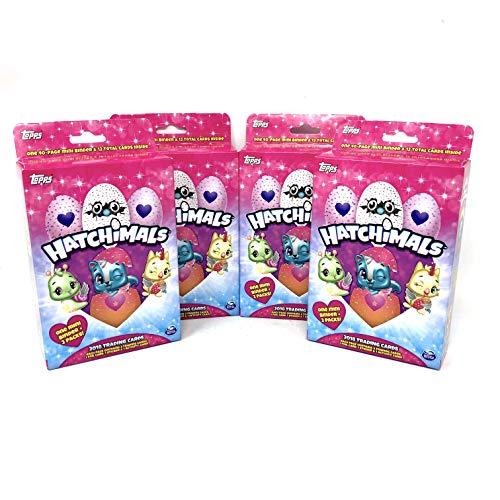 2018 Topps Hatchimals TCG: Hanger Packs (4 Boxes) Trading Cards