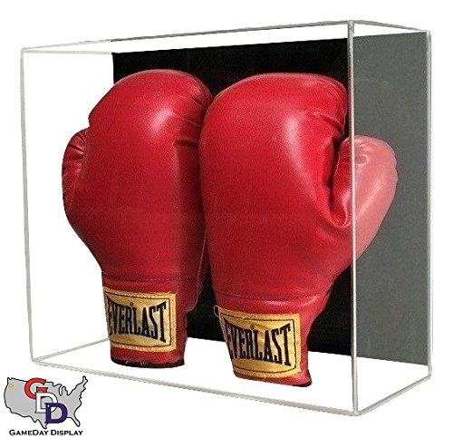 (GameDay Display Acrylic Wall Mount Double Boxing Glove Display Case by)