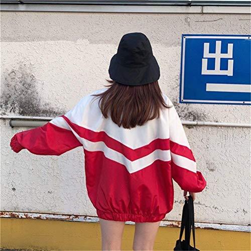 Donna Camicetta Pattern Giacche Giubbino Lunga Ragazza Cappotto Casual Estivi Sportivo Rot Giovane Primaverile Autunno Misti Moda Leggero Chic Digitale Relaxed Colori Manica Jacket Fashion 1pwdqTp