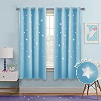 PONY DANCE Blackout Star Curtains - Hollow Out Stars...