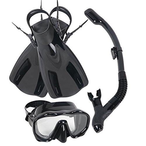 mtsugar Scuba Short Diving Snorkeling Kit Mask Tube Adjustable Fins Carry Bag Swim - Goggles Canada Swim
