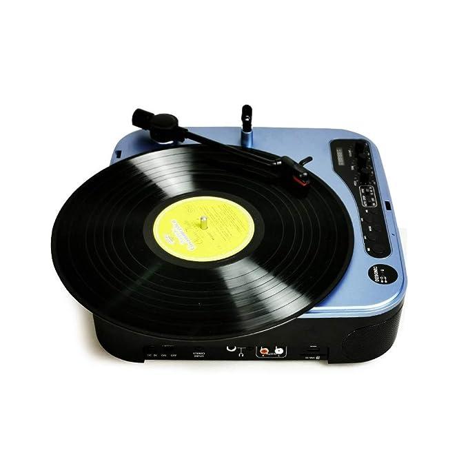 RJJ Azul Multifuncional Máquina Tocadiscos De Vinilo ...