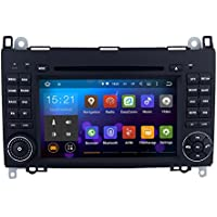 SYGAV Android 5.1.1 Lollipop Car Stereo CD DVD Player for Mercedes-Benz A-Class W169 B-Class W245 2005-2012 Sprinter Viano Vito 2006 with 2 Din 7 Inch 1024x600 In-dash GPS Sat Navigation Radio