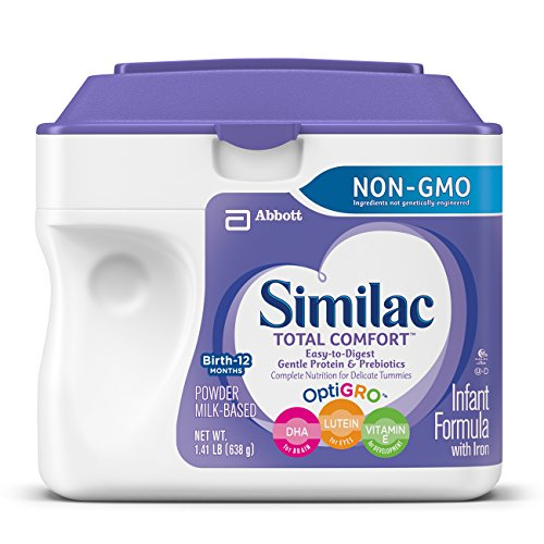 Similac Total Comfort Infant Formula with Iron, Easy to Digest, Baby Formula, Powder, 1.41 lb (Pack of 4) Newborn Baby Formula
