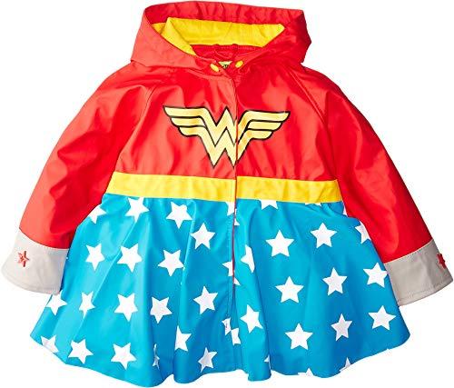 - Western Chief Apparel Girls' Little Western Chief Kids Wonder Woman Rain Coat, red, 6