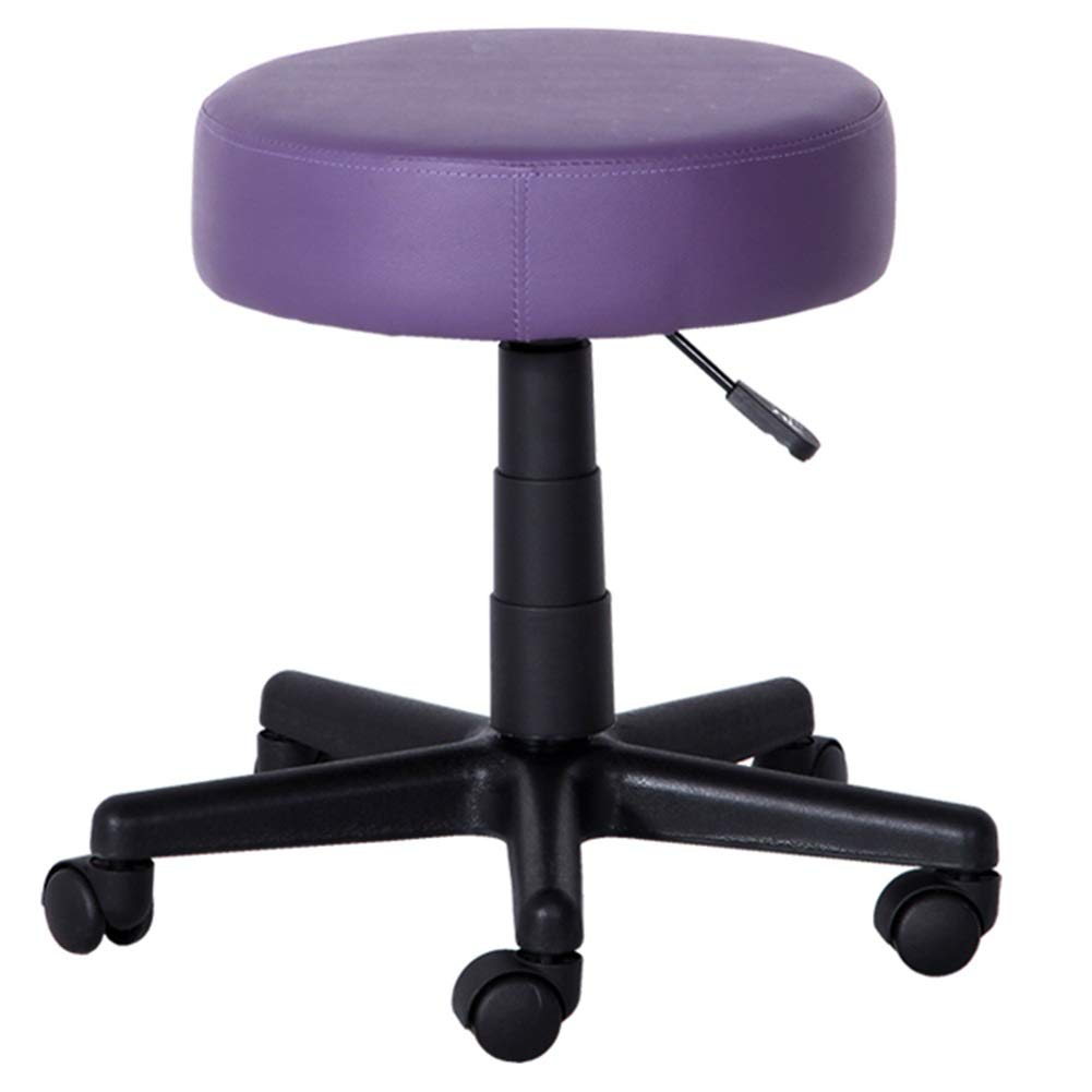 Dark Purple 40CM ZHAOYONGLI Beauty Stool Lifting Bar Stool redate Chair Hairdressing High Stool Round Work Chair Creative Solid Durable Long Lasting (color   Dark Purple, Size   40CM)