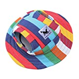 Fashion Small Pet Dog Cat Visor Sports Hat Sun Hat Canvas Visor Cap with Ear Holes Princess hat,3,S
