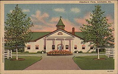Almahurst Farm Lexington, Kentucky Original Vintage Postcard