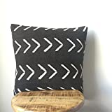 Large Arrow Mudcloth Pillow - Handmade -More Sizes Available